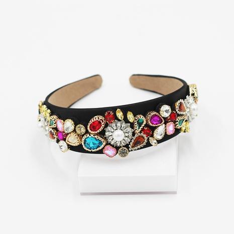 Diadema geométrica de perlas de moda barroca NHWJ300268's discount tags