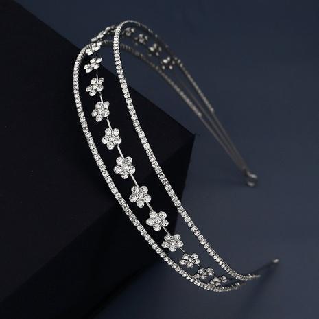 bandeau élastique à fleurs cloutées de diamants NHHS300273's discount tags