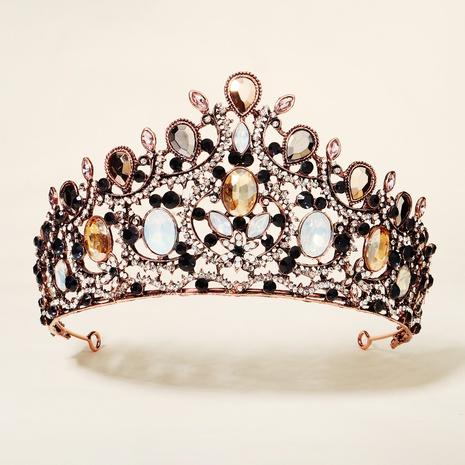 Retro Baroque Rhinestone Alloy Crown NHHS300275's discount tags