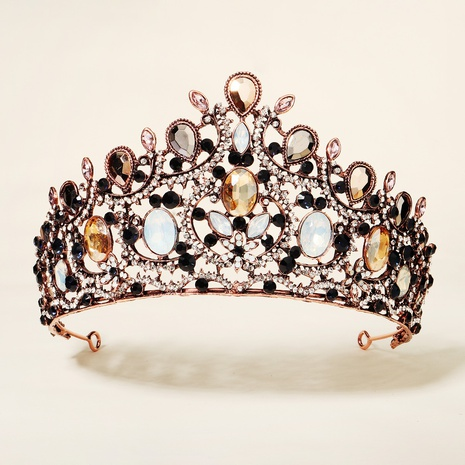 Retro Baroque Rhinestone Alloy Crown NHHS300275's discount tags
