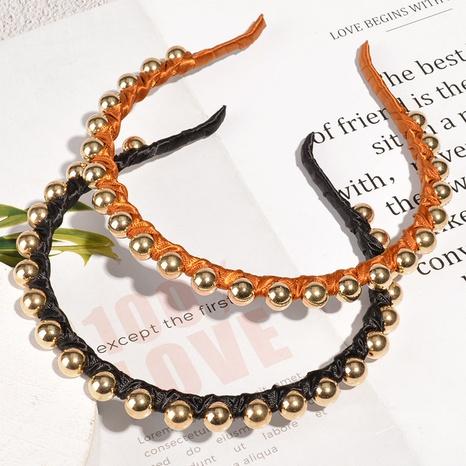 Diadema delgada coreana de perlas simples NHAQ300279's discount tags