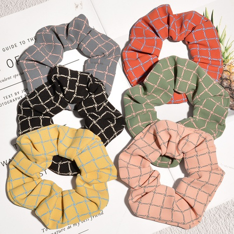 plaid simple hair scrunchies NHAQ300284's discount tags