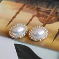 NHOM1361536-White-silver-needle-stud-earrings