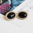 NHOM1361537-Black-silver-pin-stud-earrings