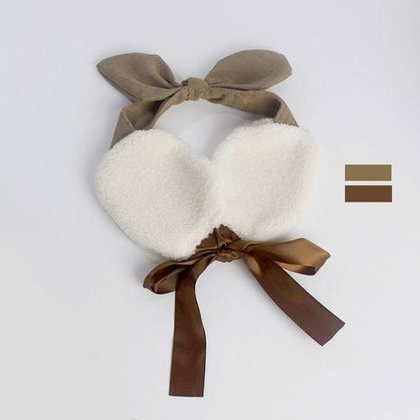 Corée rétro nouveau sac d'oreille arc doux en cheveux d'agneau NHAR300304's discount tags