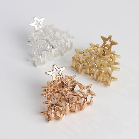 Korean simple hollow star catch clip NHAR300320's discount tags