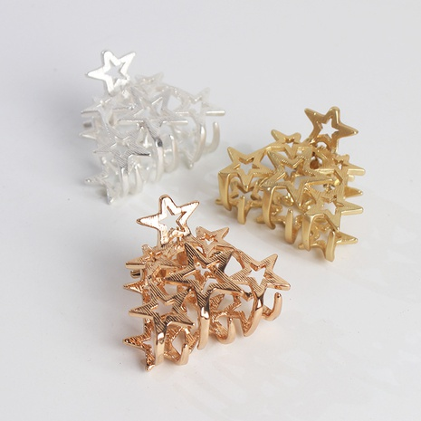 Korean simple hollow star catch clip NHAR300320's discount tags
