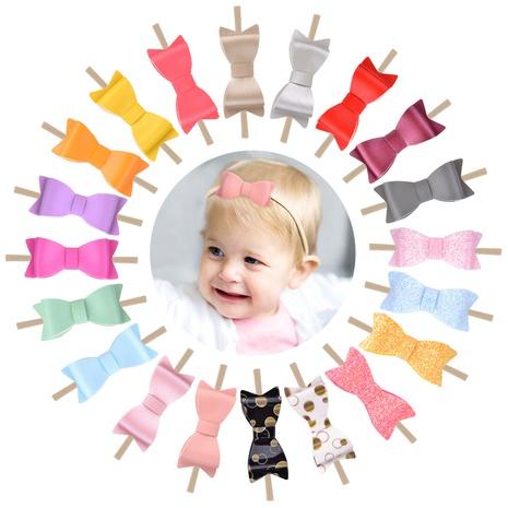 Kindermode Korean Glitter Bow elastisches Nylon Stirnband NHMO300326's discount tags