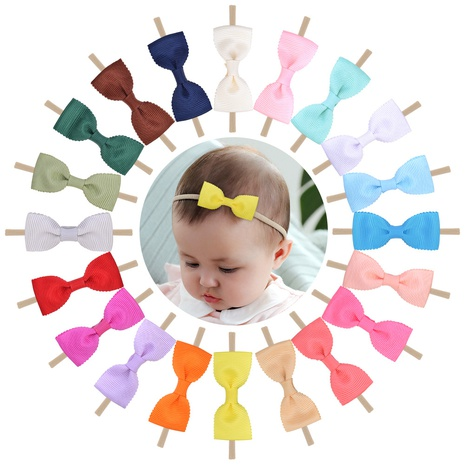 hot-selling baby solid color elastic nylon hair band set NHMO300341's discount tags