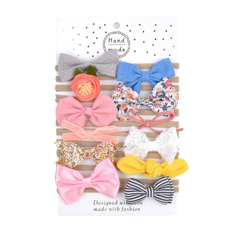 simple fashion bow hair bands set NHMO300343's discount tags