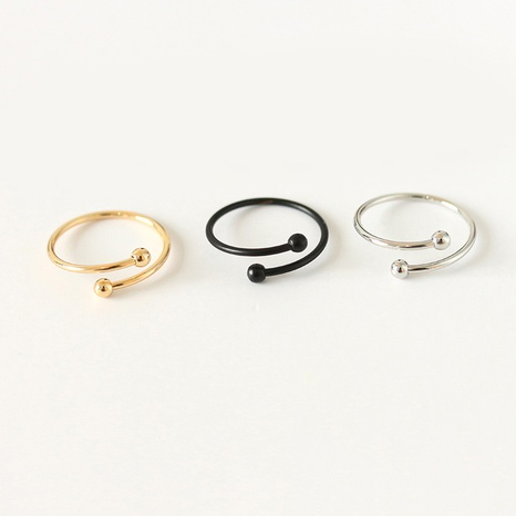 schwarzer offener Ring NHDP299880's discount tags