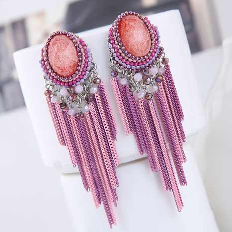 Korean retro tassel long earrings  NHSC299837's discount tags