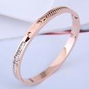 Bracelet simple en acier titane de mode corenne NHSC301101
