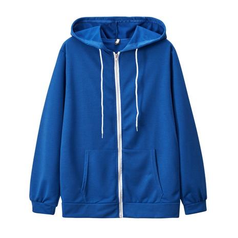 nouveau pull épaissi simple à capuche à manches longues et à capuche NHIS301811's discount tags