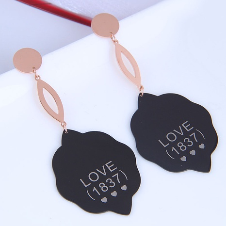 fashion titanium steel cloud exaggerated earrings NHSC301092's discount tags