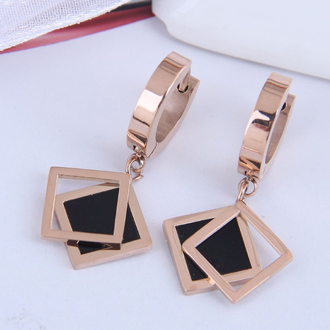 fashion simple geometric square earrings NHSC301089's discount tags
