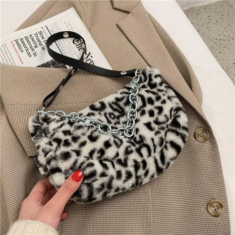 new fashion trendy one shoulder plush bag NHRU300420's discount tags
