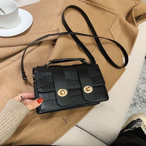 new trendy retro simple small square bag  NHRU300445's discount tags