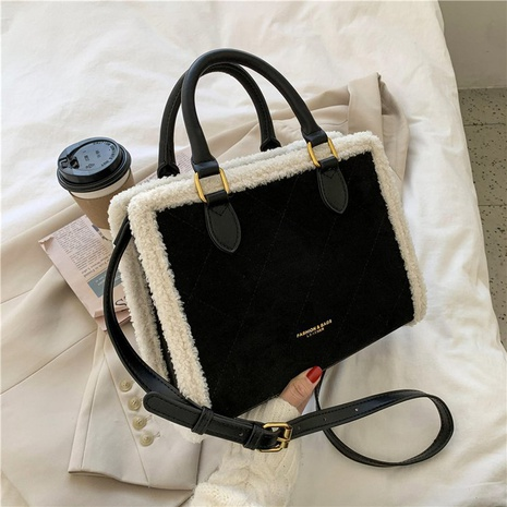 new trendy fashion rhombus embroidery thread portable tote bag NHLH300493's discount tags