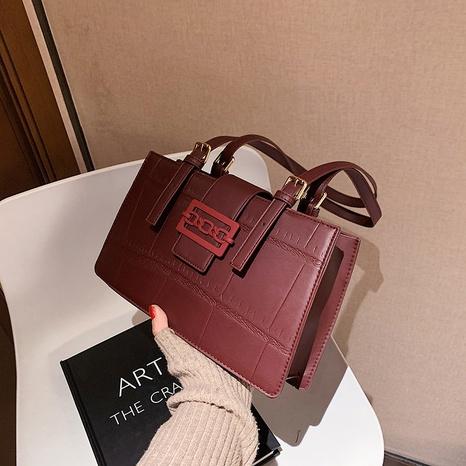 Korean fashion new trendy wild retro texture small square bag NHJZ300573's discount tags