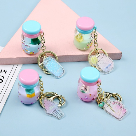 Netter Acryl Babyflasche Fruchtöl Schlüsselbund NHAE300596's discount tags