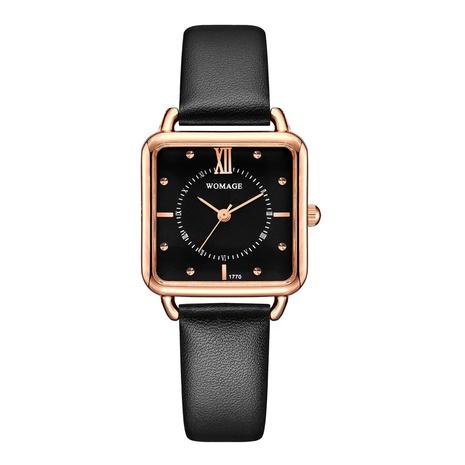 Reloj de cinturón casual con esfera cuadrada de moda NHSS300604's discount tags