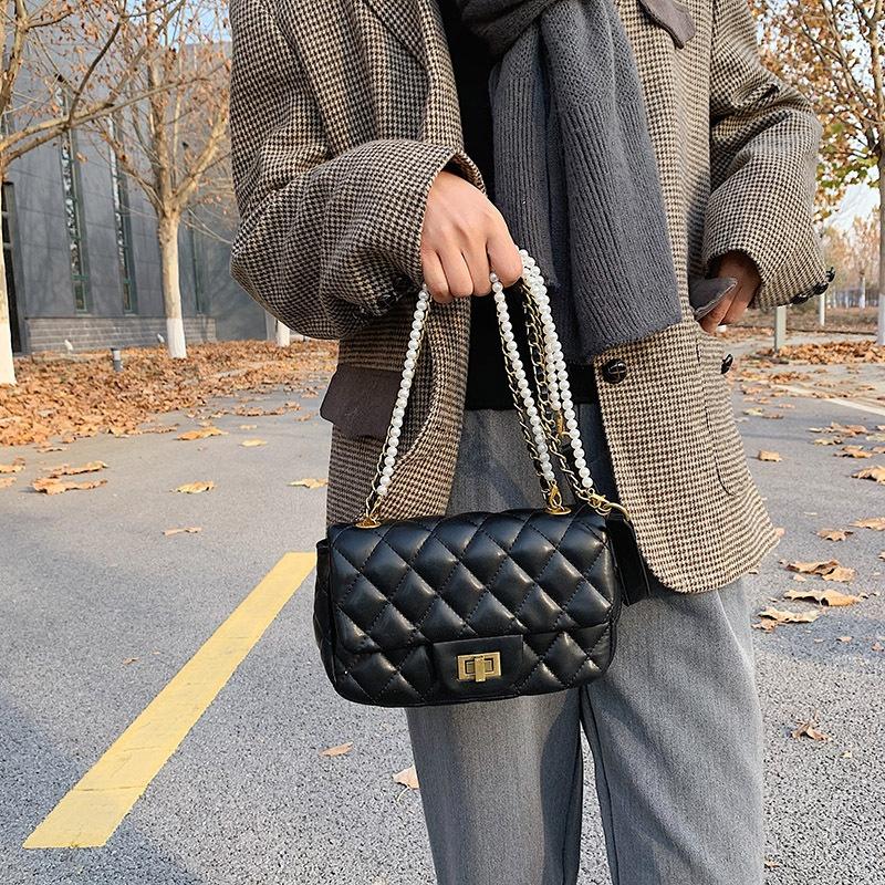 PU leather new oneshoulder messenger bag  NHTG300618