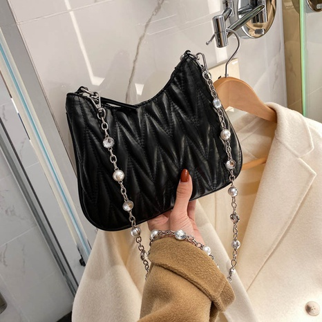 embroidery new trend Korean fashion underarm bag NHTG300631's discount tags