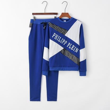 nouveau costume de sport décontracté bleu à la mode NHIS301779's discount tags