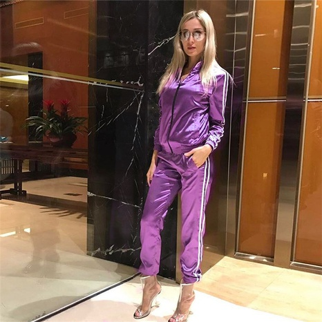 simple long-sleeved round neck casual trousers sports suit NHIS301778's discount tags