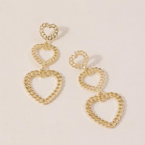 Chain hollow heart earrings NHQC301681's discount tags