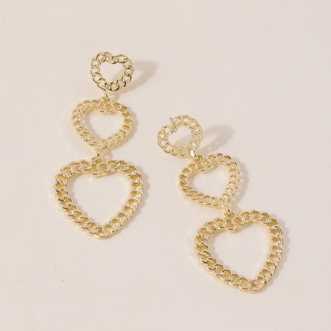 Chain hollow heart earrings NHQC301681's discount tags