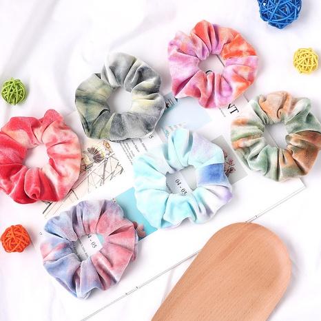 Nouveau style coréen dégradé de couleur velours tie-dye cheveux chouchous en gros NHQC301078's discount tags