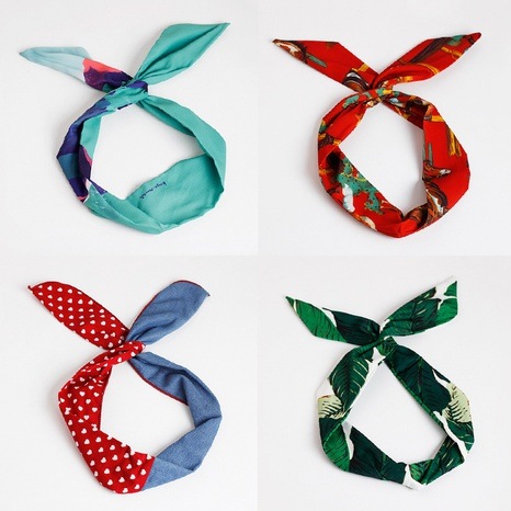 fashion new rabbit ears hairband NHAR300676's discount tags