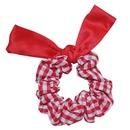 retro satin bow hair scrunchies  NHAR300677