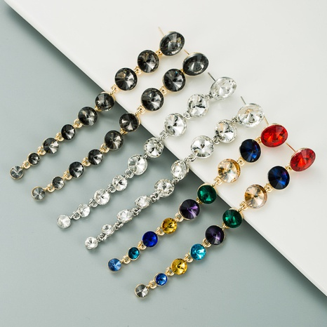 fashion glass alloy long earrings  NHLN300686's discount tags