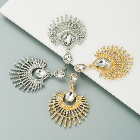 retro bohemian diamond earrings NHLN300688's discount tags
