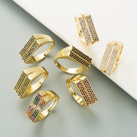 fashion geometric colored gemstones zircon ring NHLN300710's discount tags