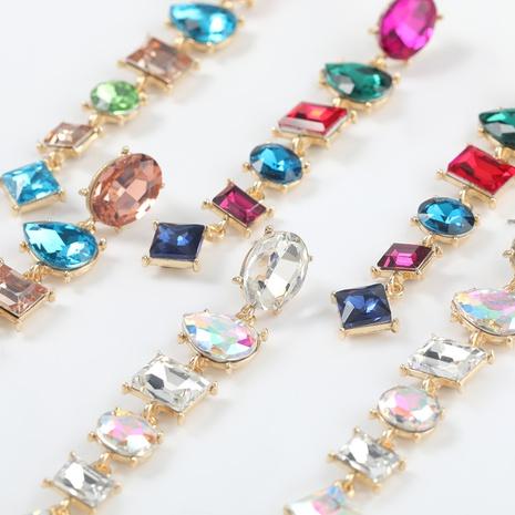 fashion glass long earrings  NHJE300728's discount tags