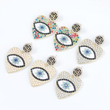 alloy diamond-studded heart-shaped earrings NHJE300731's discount tags