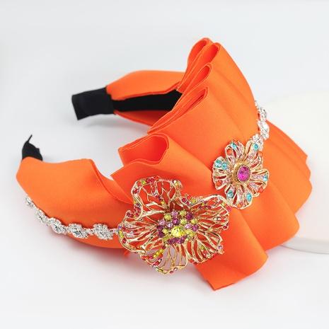 bandeau de fleur de diamant de strass de tissu d'éponge de tendance de mode NHJE300737's discount tags