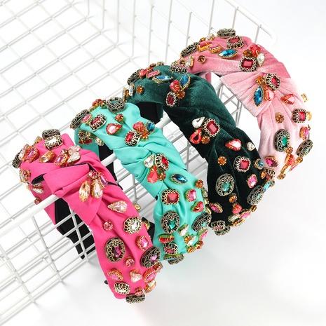 bandeau de fleurs à strass à la mode NHJE300744's discount tags