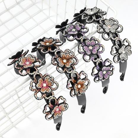 bandeau à fleurs multicouche en acrylique incrusté de diamants NHJE300751's discount tags
