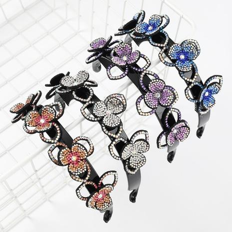 bandeau à fleurs multicouche en acrylique incrusté de diamants NHJE300755's discount tags