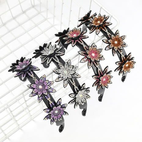 bandeau à fleurs multicouche en acrylique incrusté de diamants NHJE300756's discount tags