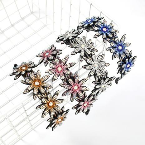 Bandeau multicouche en acrylique à clous de diamant NHJE300760's discount tags