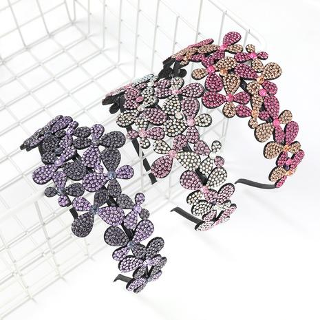 bandeau de fleur acrylique clouté de diamant de mode NHJE300768's discount tags