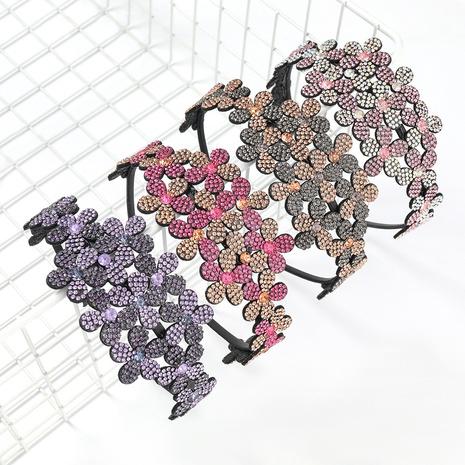 bandeau à fleurs en acrylique incrusté de diamants NHJE300770's discount tags