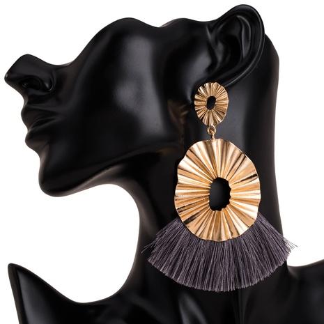 fashion resin alloy diamond tassel earrings NHJE300773's discount tags
