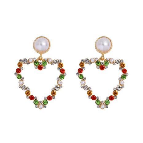 pearl heart diamond earrings NHJQ300798's discount tags